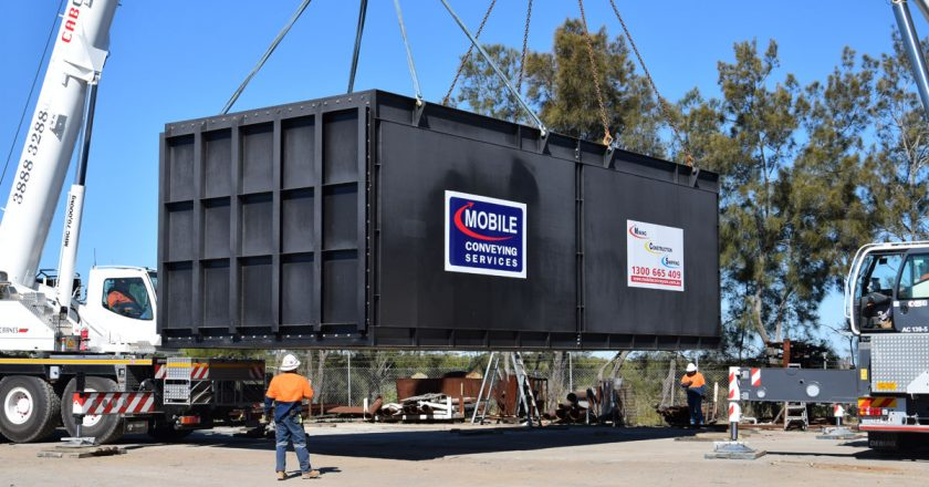 Caboolture Cranes (CabCranes) undertakes regular work for Burpengary business Mobile Conveying Services (MCS) when it sends portable conveying equipment to sites around Australia.