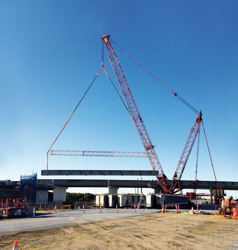 How Universal Cranes' M16000 lifted the largest ever bridge beams in Queensland to take out a top industry award.