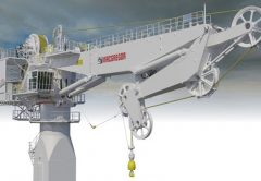 MacGregor has announced its fibre-rope offshore crane is now approaching the final stages of construction.