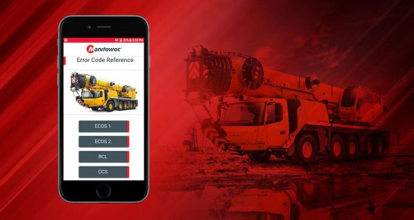 Manitowoc Cranes has updated its smartphone app, which helps customers diagnose technical issues on their cranes.