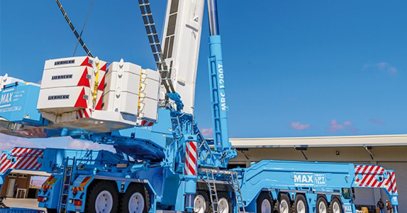 The largest telescopic crane in the southern hemisphere is being put to work in the renewable energy sector. Cranes and Lifting Magazine reports.