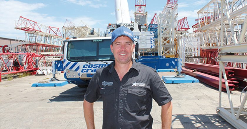 Cosmo Cranes recently took delivery of two Demag cranes, including the first AC 300-6 to be delivered in Australia.