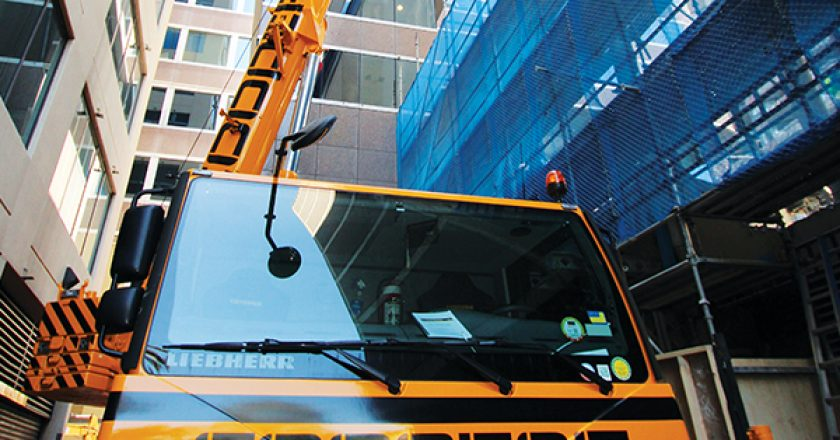 "Coopers Heavy Industries recently invested in a 70t Liebherr mobile crane catering to the demand for ""space restrictive"" lifts across Sydney."