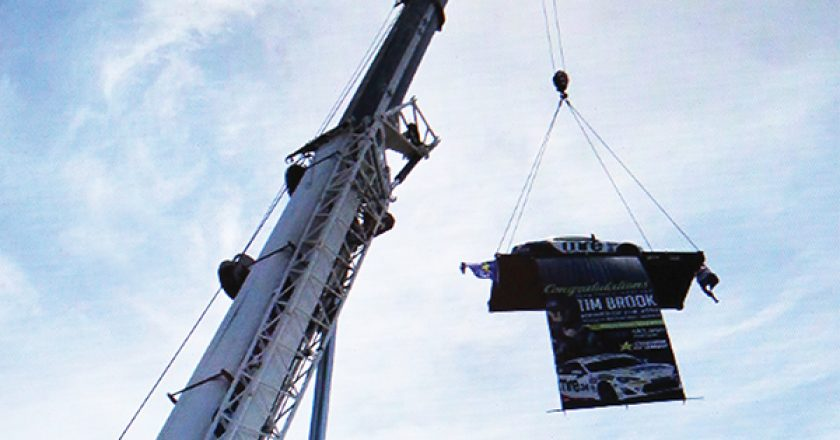 As part of a community engagement campaign, Cosmo Cranes took a Toyota 86 race car to a local shopping centre and hoisted it 30 metres into the air.