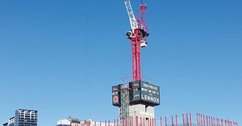 Cosmo Cranes has installed a Terex Internal Climbing System HD12 (for use with a CTL 340-24 luffing jib tower crane) which is a first for the Australian crane industry and only the second time it's been employed in the world.