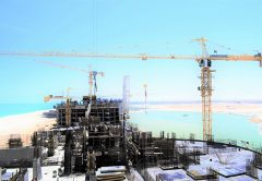 A new urban development on Egypt's northern coast is being built with the use of over 35 Potain tower cranes.