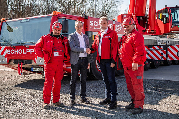 Scholpp takes delivery of new Terex all terrains - Cranes