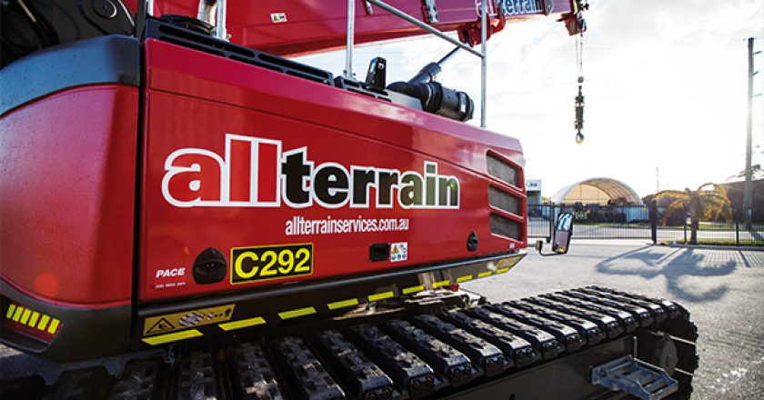 All Terrain Services expands its mini crane capabilities with the purchase of a new Sennebogen telescopic crawler.
