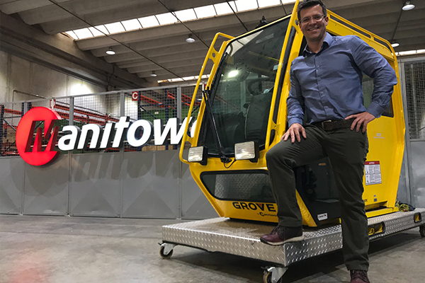 Manitowoc Cranes has appointed a new sales director for Brazil and has charged him with furthering the Manitowoc Way.
