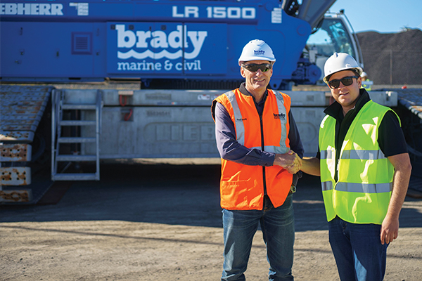 Marine contracting requires a specialised crane fleet. Brady Marine & Civil discuss the reasons behind the purchase of new 500t crawler crane.