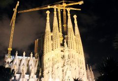 Potain cranes help realise Gaudi's130 year old vision with the imminent completion of Barcelona's Basilica Sagrada Familia.