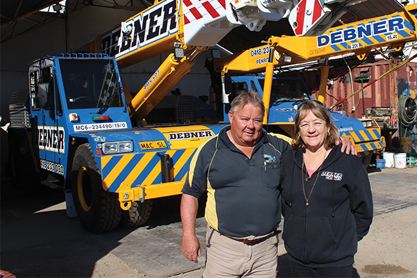 """It might have taken """"crane personality couple"""" Ari and Marie Debner a few goes, but focussing on what they do best turned their business into the success it is today."""