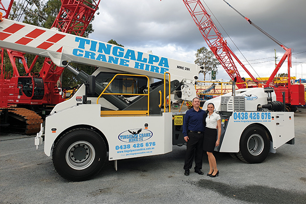 A Brisbane crane hire business is confident the purchase of a TIDD PC28 will provide a significant advantage with Tier One builders and the major construction sites where safety is a major focus