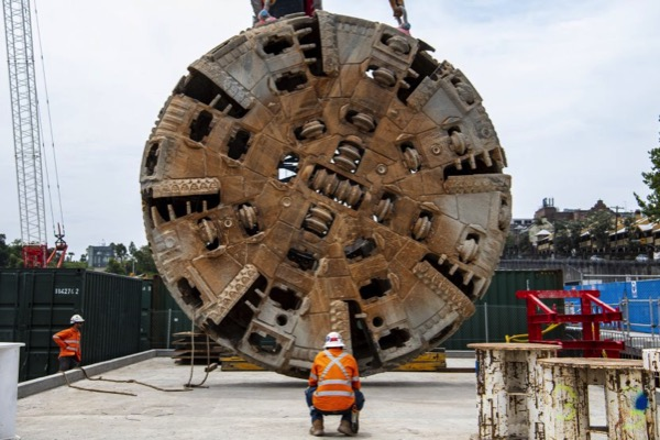 Four military-style operations are underway to lift out tunnel boring machine (TBM) cutterheads, each weighing 100 tonnes, as tunnelling wraps up on the Sydney Metro project.