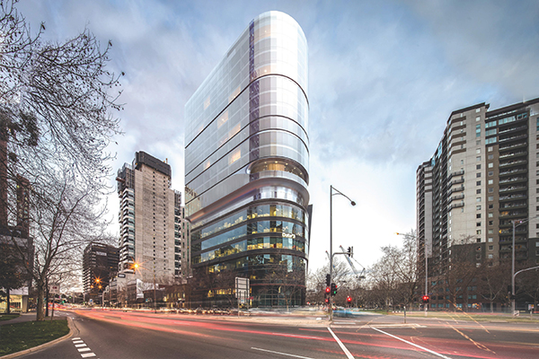 An electric crane has been used to limit the impact of noise during the construction of Australia's first cross laminated timber (CLT) hotel.