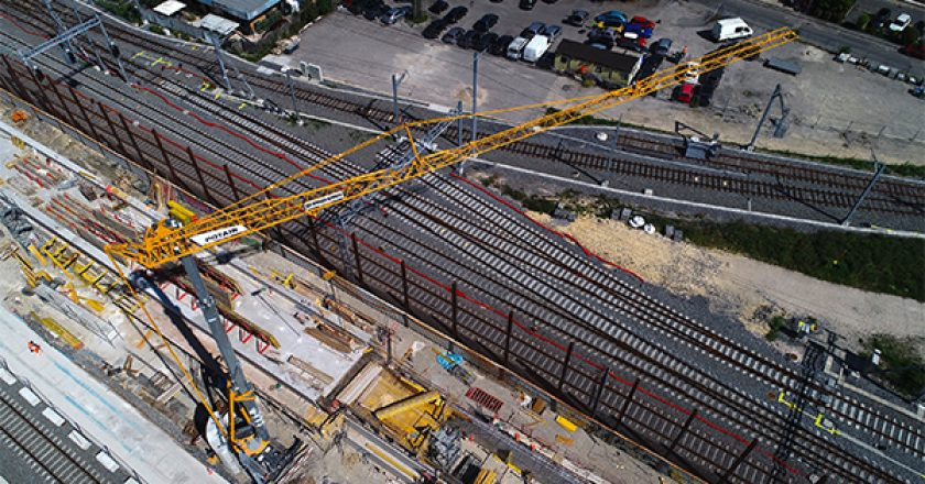 The first Potain Hup C 40-30 crawler mounted self-erecting cranes have been deployed on a project in Switzerland.
