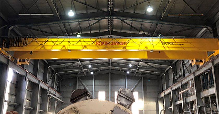 The new Konecranes Turbine Hall crane, with nearly 30m span, had to be installed in a tight space, and was delivered swiftly and safely, with outstanding cooperation between Synergy and Konecranes.