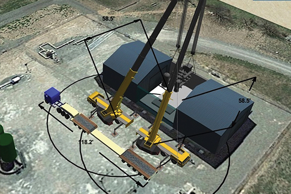 Cranes and Lifting learns how a lift manager utilises 3D Lift Plan to realise time and cost savings by using two cranes instead of one larger one.