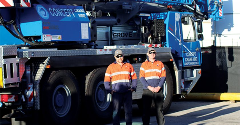 Canberra based crane hire business Concept Crane Hire, recently took delivery of a Grove GMK3060L, the first crane in the range to be delivered in Australia. Cranes and Lifting reports.