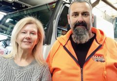 Barbara and Danny Toohey, the team behind Komp Cranes