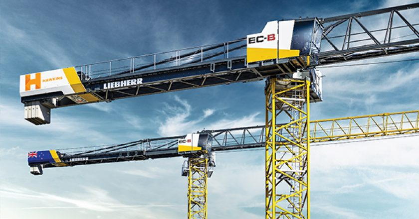 """During last year's Bauma, Liebherr launched a new Flat-Top series. Three of the eight units are equipped with fibre rope and therefore have """"fibre"""" added to their product title. The first unit from the series is headed to Auckland, New Zealand. Cranes and Lifting explains."""
