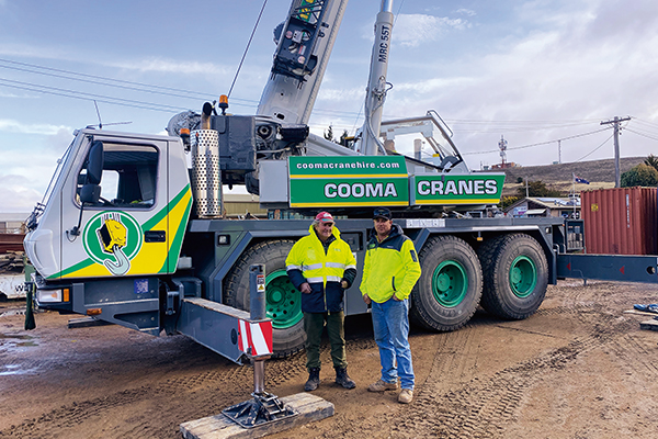 Local crane hire business, Cooma, takes on any job that requires their services all year round and they're currently busy with preparatory work on the Snowy Hydro 2.0 project.