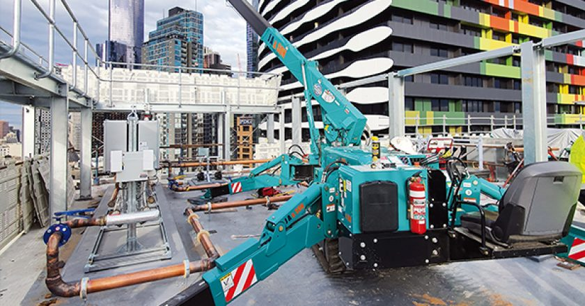 Victorian glass handling specialist J A & SON, dramatically grows the business with the help of Maeda mini crawler cranes.