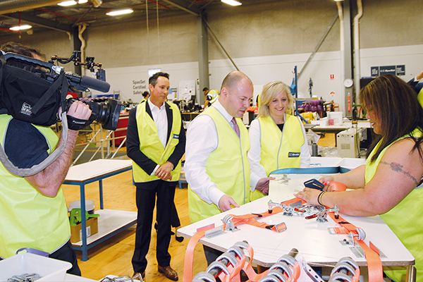 Following the release of key strategies during his Budget speech, Treasurer Josh Frydenberg visited Western Sydney synthetic sling manufacturer SpanSet, to learn first-hand what these strategies will mean to local industry.
