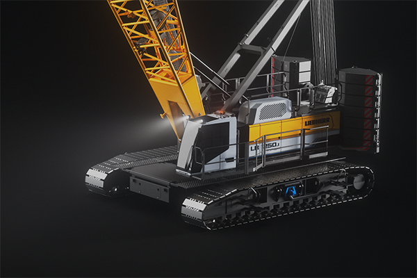 The LR 1200.1 unplugged and the LR 1250.1 unplugged are one of the world's first battery-powered crawler cranes. Both are driven by electric engines with a system performance of 255 kW.
