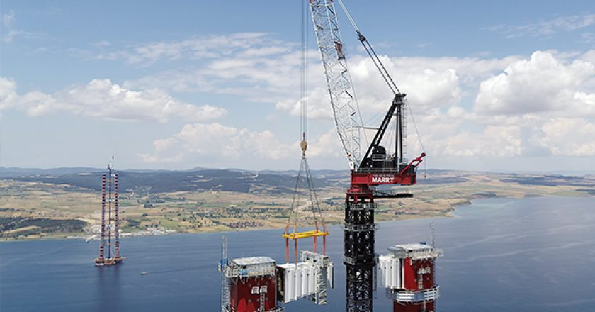 Marr Contracting Pty Ltd (The Men From Marr's), recently completed a word record lift during construction of 1915 Çanakkale Bridge, Gelibolu (Gallipoli), Turkey.