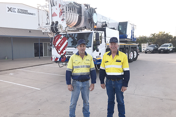 A new Tadano all terrain model, the ATF-120-5.1, was delivered to a Gladstone engineering business, and after two days of training, went to straight to work. It passed with flying colours.